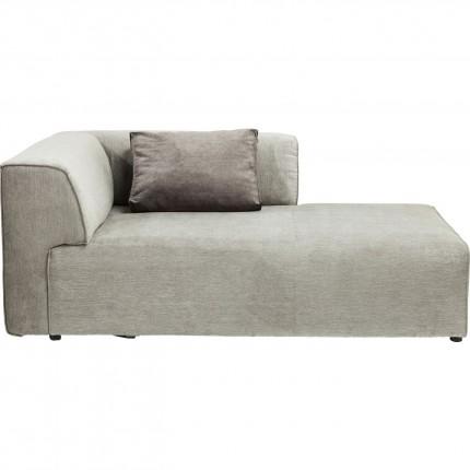 Méridienne droite d'angle canapé Infinity gris Kare Design