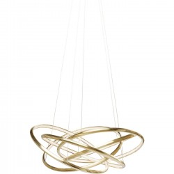 Suspension Saturn LED dorée 120cm Kare Design