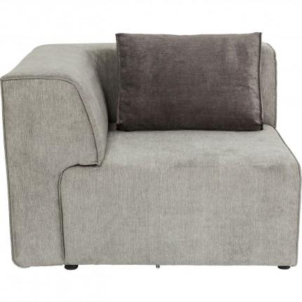 Angle de gauche canapé Infinity gris Kare Design