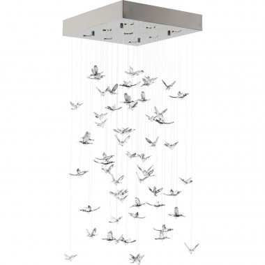 Suspension Flying Birds chrome Kare Design