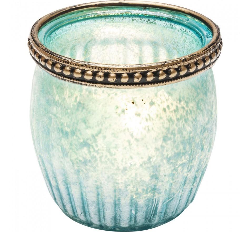 Photophore Medina bleu clair set de 4 Kare Design