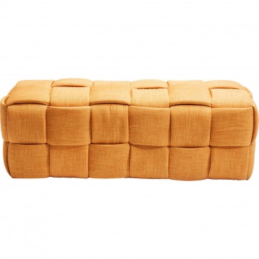 Banc contemporain en tissu orange - Woven - Kare Design