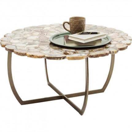 Table basse Tesoro beige 80cm Kare Design