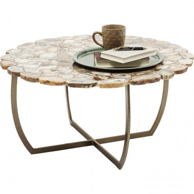 Table basse Tesoro beige 80cm Kare Design