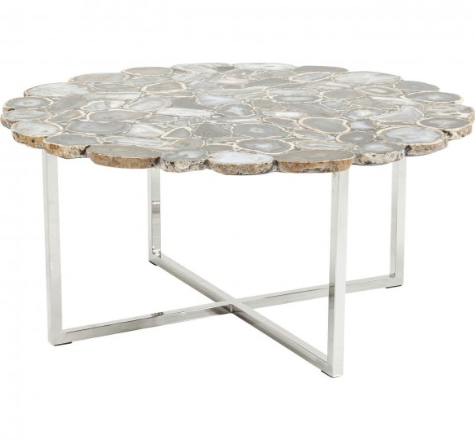 Table basse Tesoro bleu Ø80cm