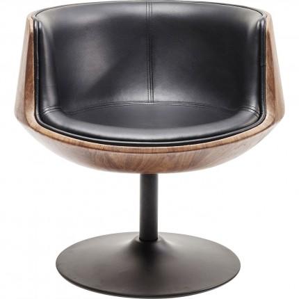 Fauteuil pivotant Club 54 Soft noyer Kare Design