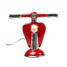 Lampe de table Scooter rouge LED