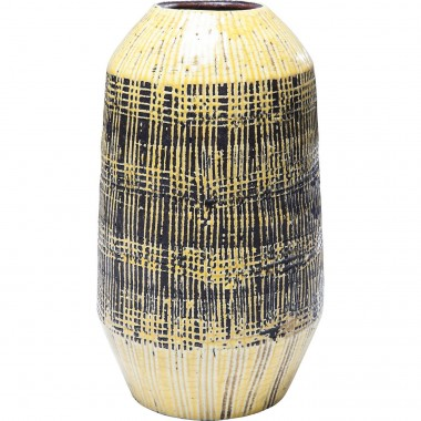Vase décoratif Muse Stripes jaune 29cm