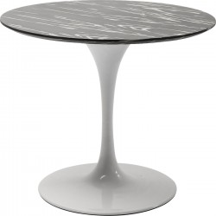 Table Invitation ébène & blanche 90cm Kare Design