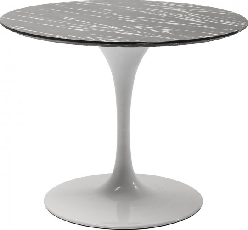 Table Invitation ébène & blanc 90cm Kare Design