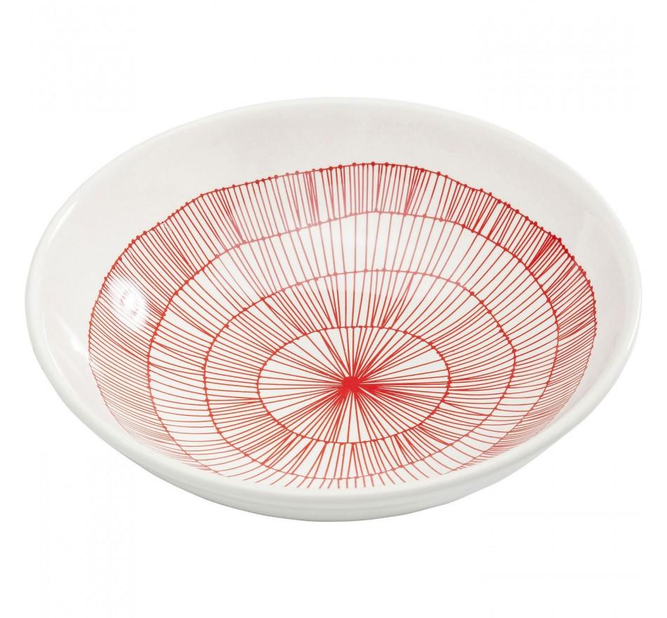 Assiette creuse Net rouge Ø22cm