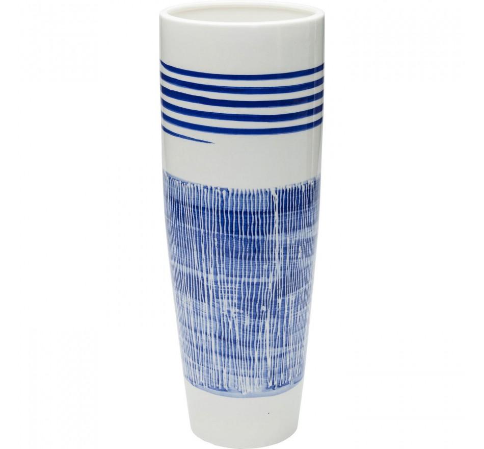 Vase Grid Blue Line 40cm Kare Design