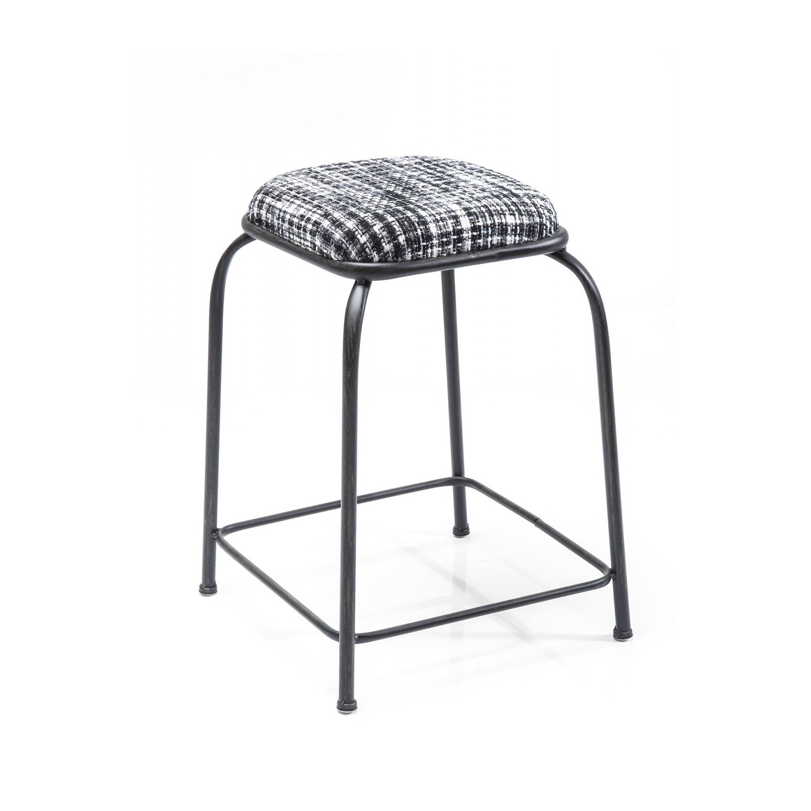 tabouret industriel noir campus kare design. Black Bedroom Furniture Sets. Home Design Ideas