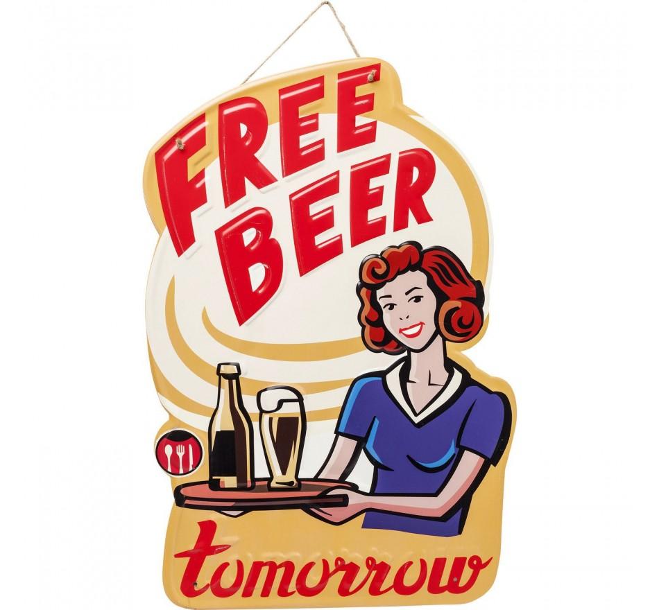 Déco murale Free Beer Kare Design