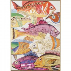 Tableau Touched Fish Meeting One 100x70cmKare Design