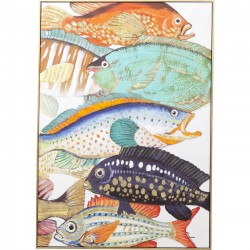 Tableau Touched Fish Meeting Two 100x70cm Kare Design