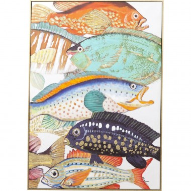 Tableau Touched Fish Meeting Two 100x70cm