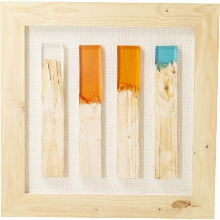Tableau Match allumettes multicolores 90x90cm Kare Design