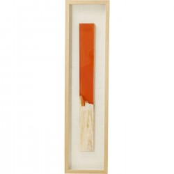 Tableau Match allumette orange 120x30cm Kare Design