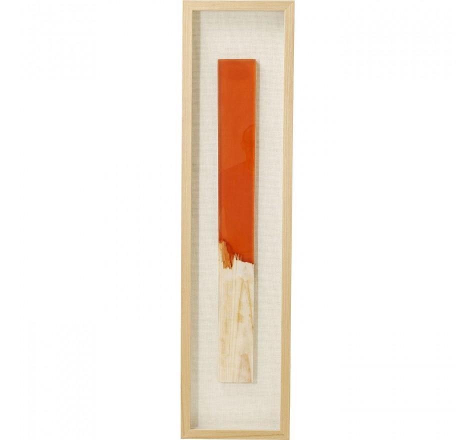 Cadre décoratif Match orange 120x30cm