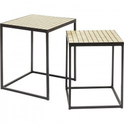 Tables d'appoint Cubes set de 2 Kare Design