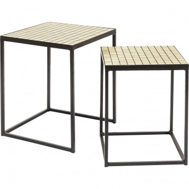 Tables d'appoint Cubes set de 2 Kare Design