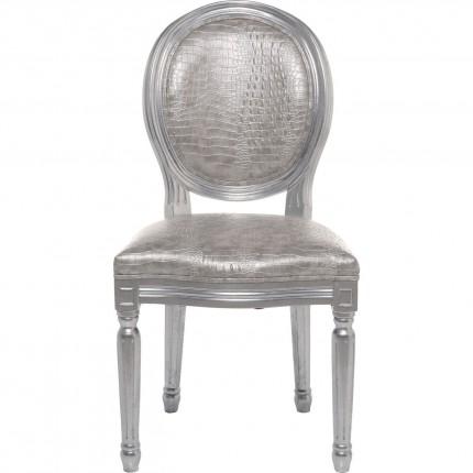 Chaise Louis Croco argentée Kare Design