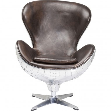 Fauteuil pivotant Soho Big Boss marron Kare Design