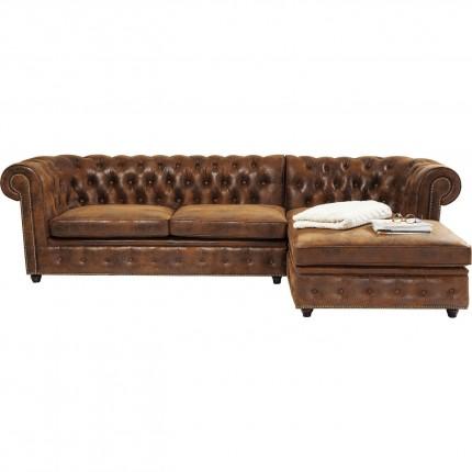 Canapé d'angle Oxford Vintage Rivet droite Kare Design