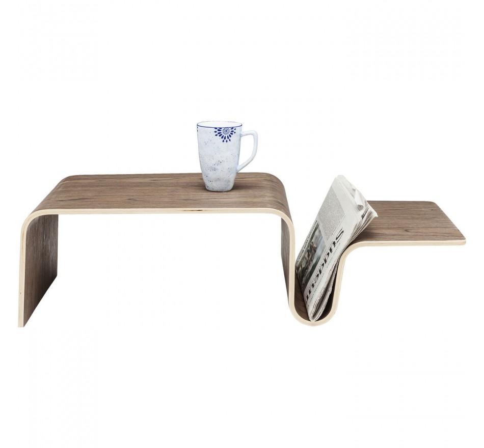 Petite table Shape Swing noix