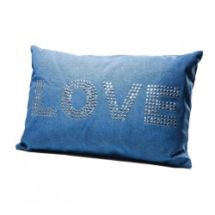 Coussin Love Studs bleu 40x60 Kare Design