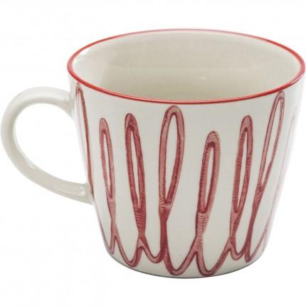 Tasses Loop rouges set de 4 Kare Design