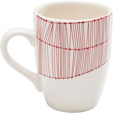 Mugs Net rouge set de 4 Kare Design
