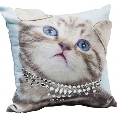 Coussin Lady Cat 45x45cm Kare Design