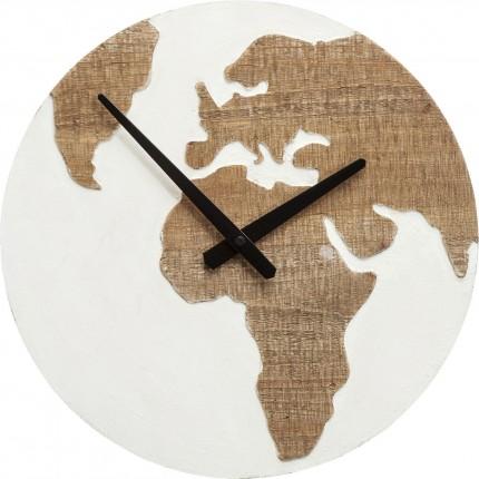 Horloge murale Antique Continent blanc 36cm Kare Design