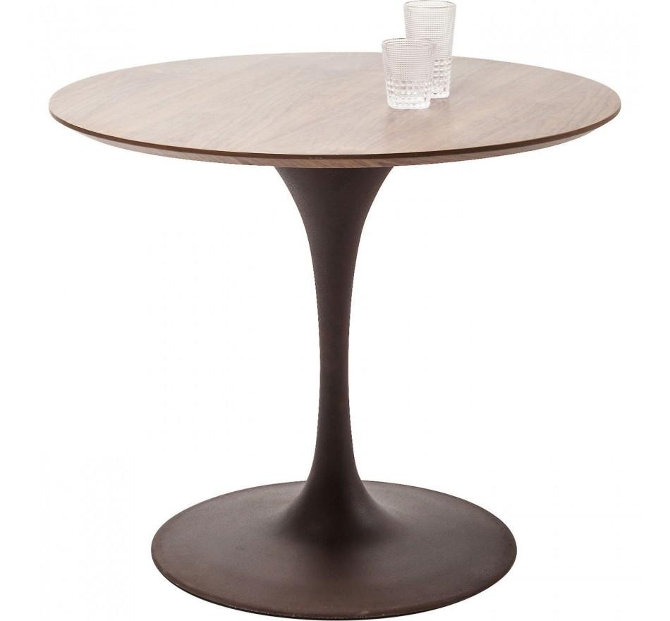 Table Invitation noyer & marron 90cm Kare Design