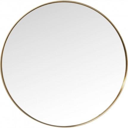 Miroir Curve rond laiton 100cm Kare Design