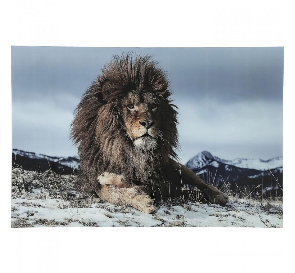 Tableau en verre Proud Lion 120x80cm
