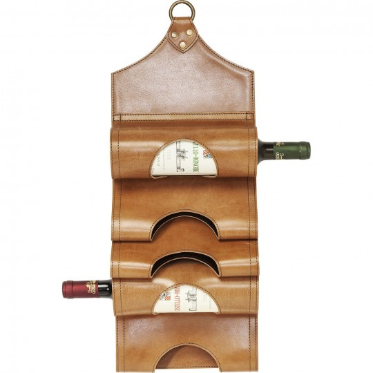 Porte-bouteilles Saddle marron Kare Design