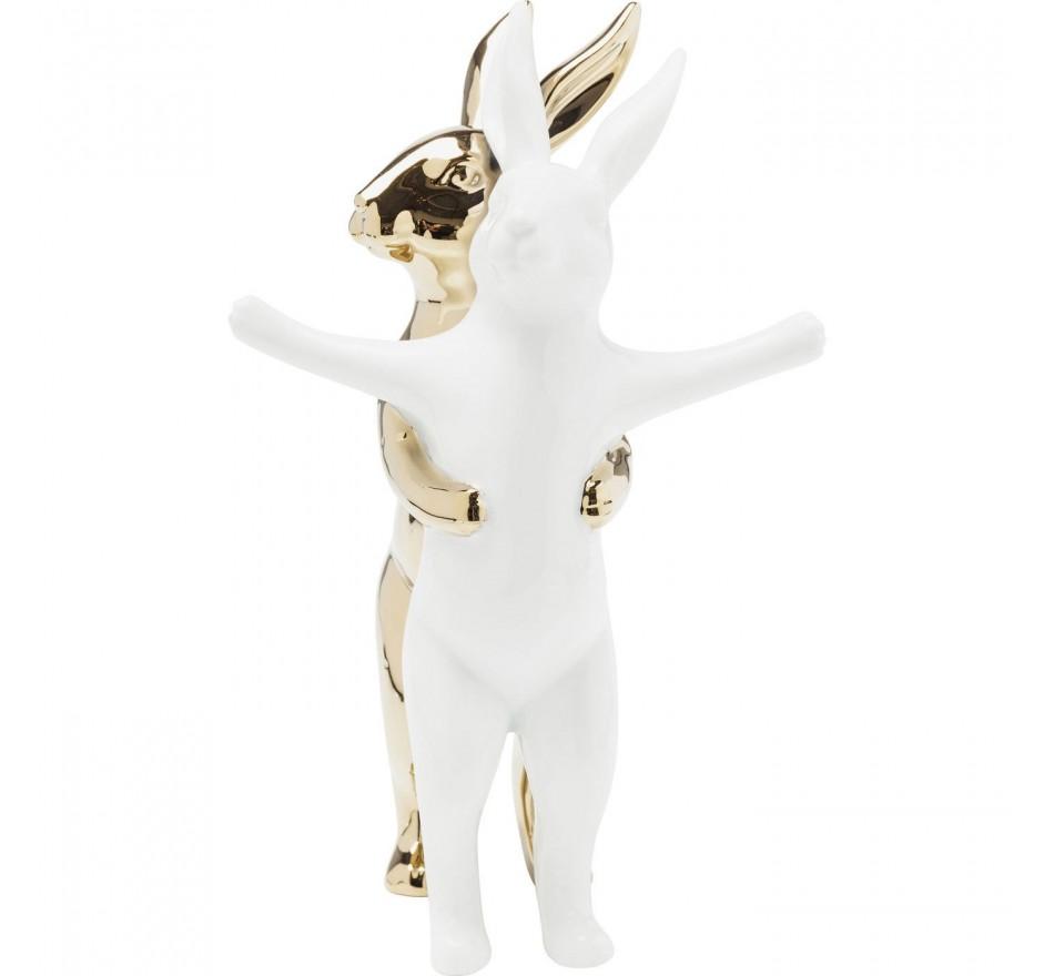 Déco Hugging Rabbits 24 cm Kare Design