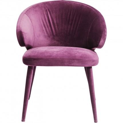 Chaise avec accoudoirs Purple Rain Kare Design