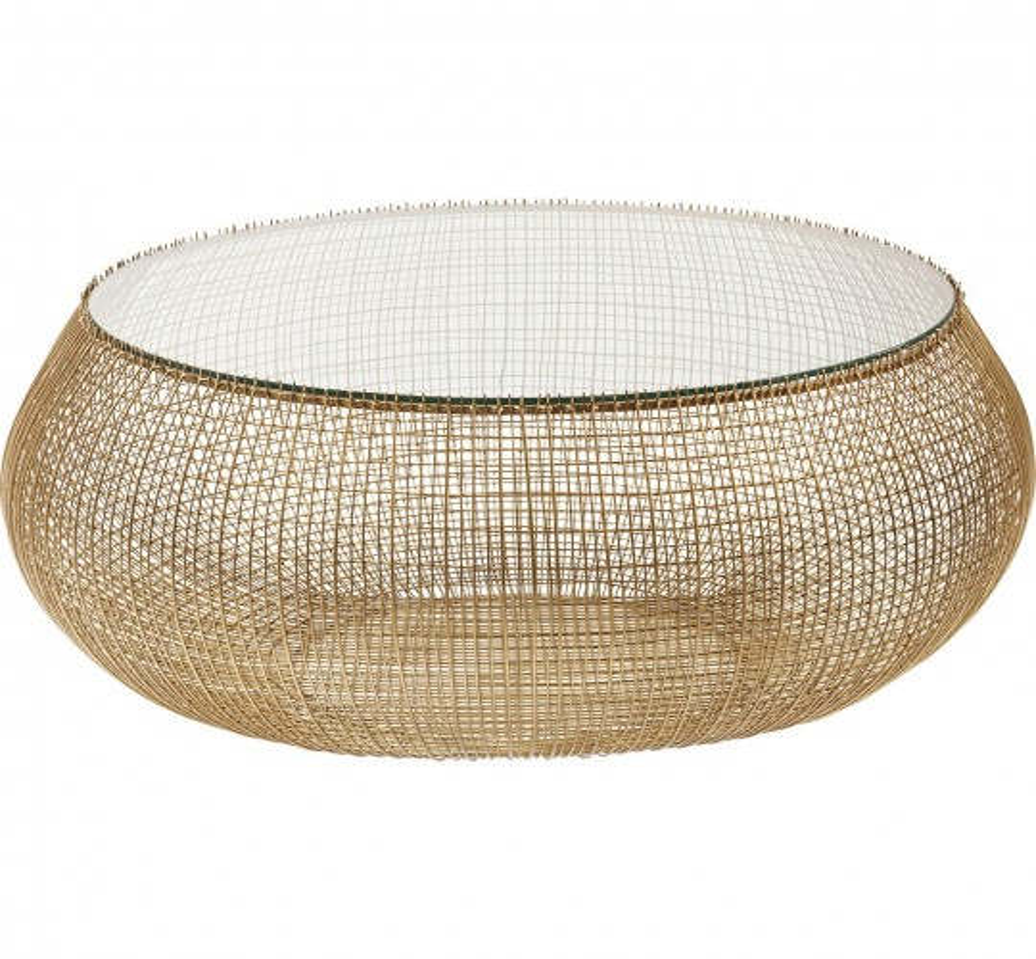 Table basse Cesta Gold Kare Design