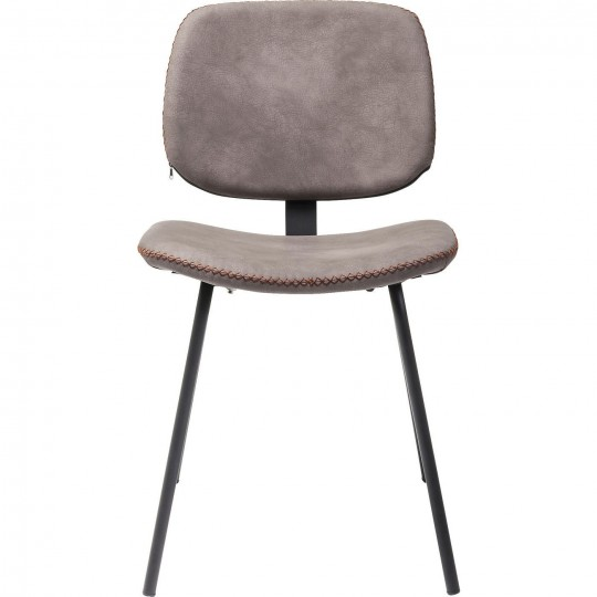 Chaise Barber maron