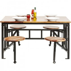 Table avec tabourets Space Kare Design