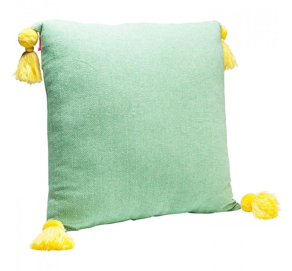 Coussin Louis Pop losanges verts 50x50cm Kare Design