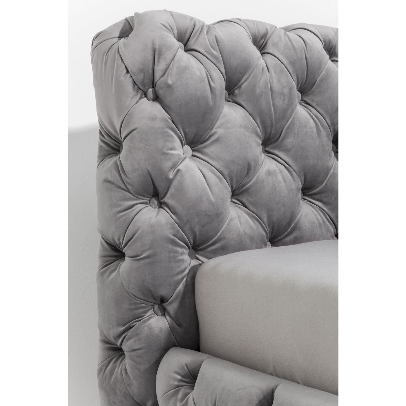 Lit Desire 200x200cm gris argenté Kare Design