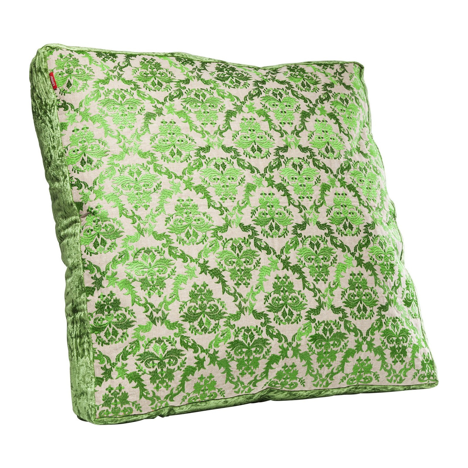 coussin de sol green ornaments 70x70cm kare design. Black Bedroom Furniture Sets. Home Design Ideas