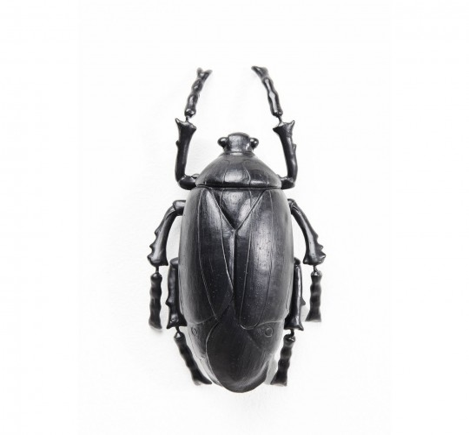 Déco murale Plant Beetle noir mat Kare Design