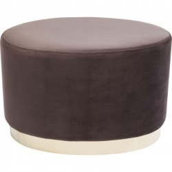Tabouret Cherry Eclipse marron et laiton Kare Design