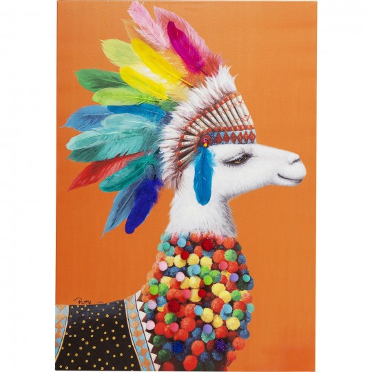 Tableau Touched Lama Chief 100x70cm Kare Design